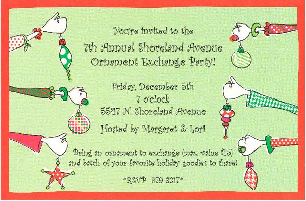 paper celebration: Planning a Holiday Ornament Exchange Party